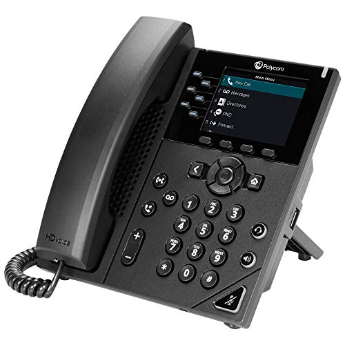 Polycom VVX 350 Business IP Phone (Power Supply Not Included) (Renewed)