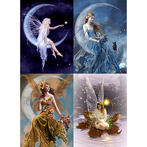 Tree-Free Greetings Moonlight Fairy All Occasion Card Assortment, 5 x 7 Inches, 8 Cards and Envelopes per Set (GA31443)