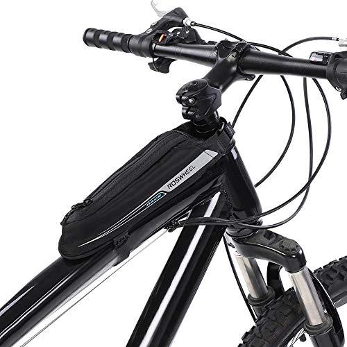 VGEBY fietsvoorvak, 0,4 l fiets top tube beam tas jacquard frametas voor racefiets