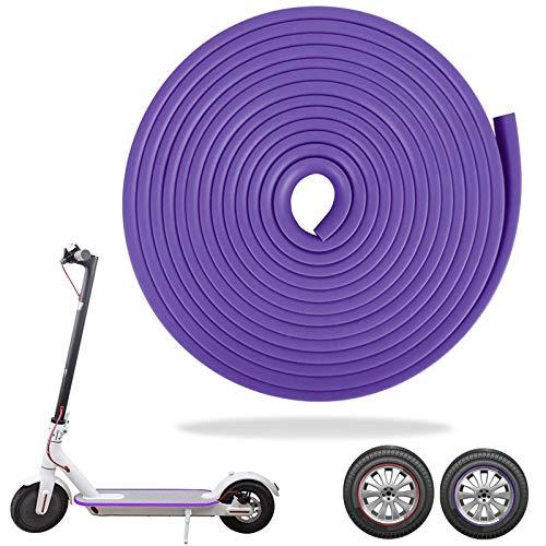 SGMY Eléctrico Scooter Tiras Decorativas,Tira Anticolisión Strip,Tira Anticolisión del Cuerpo de Vespa para Las Piezas Eléctricas de Vespa del Coche del patín de Xiaomi Mijia M365. (Púrpura)