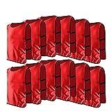 12pcs Petos de Entrenamiento Petos de Fútbol para Adultos (Color : Rojo)