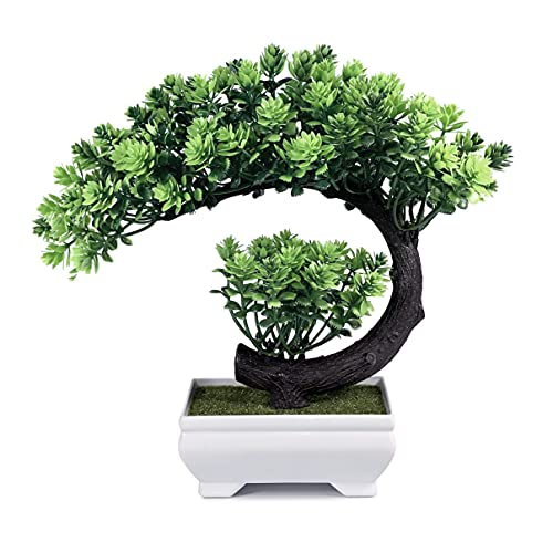yoerm Small Artificial Plants Bonsai Tree Fake Plants Room Decor for Bedroom Aesthetic Entryway Chests Drawers Bookcase Bathroom Office Decor 9.5 x 8.5 inch