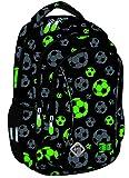 St.Right Reflective Balls Rucksack 20 Liter Schulranzen Schultasche Schulrucksack Jungen Mädchen ab 1. Klasse für Sport, Freizeit, leuchtend Fußball