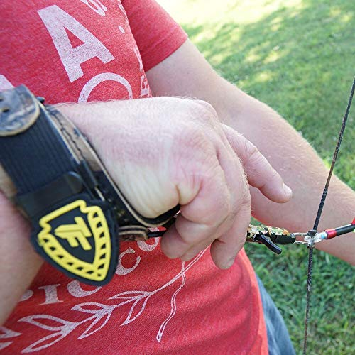 TruFire Edge Buckle Foldback Adjustable Archery Compound Bow Release - Camo Wrist Strap with Foldback Design