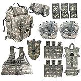 M MCGUIRE GEAR 12 Piece MOLLE Rifleman Kit with Assault Pack, Waist Pack, FLC Vest, Hydration Carrier, 8 PALS Pouches