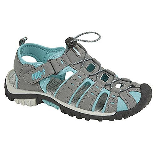 PDQ , Damen Sport- & Outdoor Sandalen, Grau/Jade, 37 EU / 4 UK