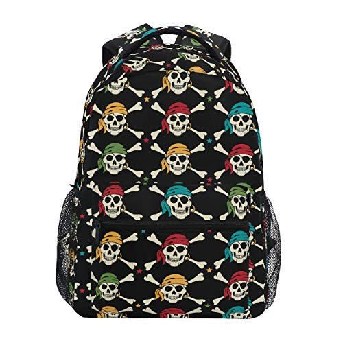 Skull Backpack for Boys Girls Elementary School Pirate Bookbag 2021713