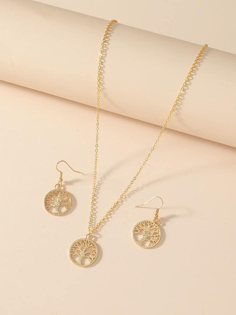 ZHAWE Women's Direct stock discount gift Jewelry Set Series Co Decor Tree 3pcs