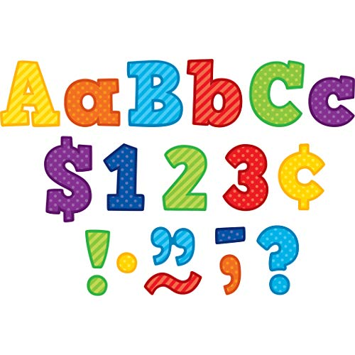 """Teacher Created Resources Playful Patterns Bold Block 4"""" Letters Combo Pack 3851"""