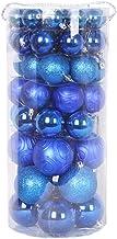 66 Pcs Xmas Baubles Christmas Tree Decoration Christmas Shatterproof Balls Ornament Hanging Pendant Blue