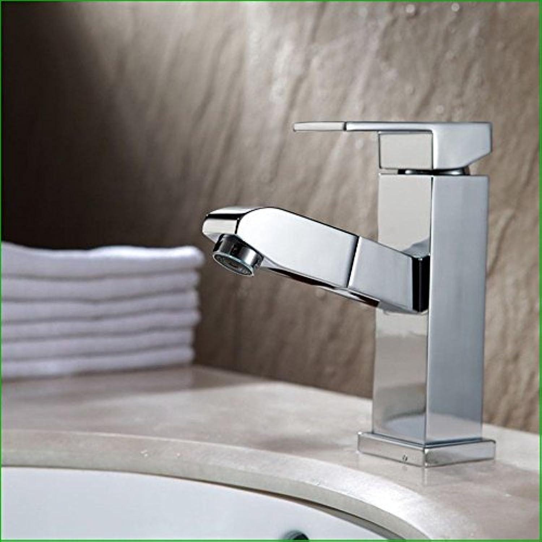 ETERNAL QUALITY Badezimmer Waschbecken Wasserhahn Messing Hahn Waschraum Mischer Mischbatterie Die Verkupferung Chrom Waschbecken ziehen - Antippen, um nach unten Wasserh