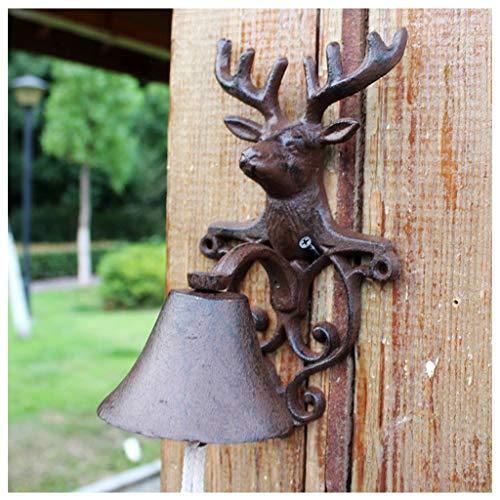 MJIA Timbre Antiguo, Vintage rústico Animal Hierro Fundido de Hierro Forjado de...