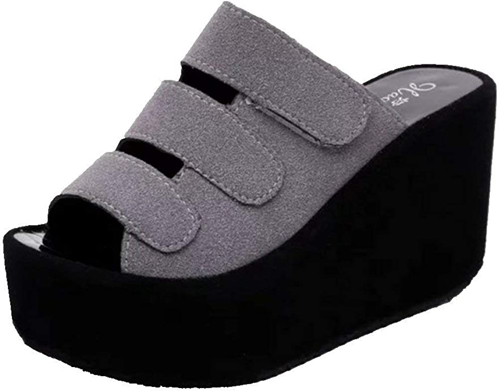 Fashion Women Summer Max 79% OFF High Platform Slides supreme Slip Anti-Slip Casual