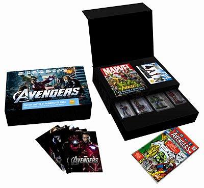 The Avengers - schwere Luxus Box Set Exklusiv - Limited Edition Fnac auf 1000Stk inkl. die 4 Figuren + Art of Film Hardcover + Comics Avengers und vieles mehr (3D Blu-ray + Blu-ray DVD) [Blu-ray]