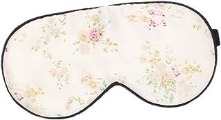 WINOMO Sidenögonskydd Blommig ögonmask natt sovmask ögonlapp justerbar ögonskugga ögonbindel sovtillbehör för hemresor
