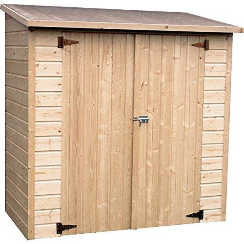 Decor et Jardin Box per sistemazione in Legno Albecour con Spessore da 12 mm, ingombro Totale cm 182x91xh178-3 PARETI