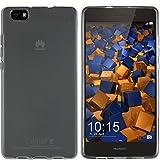 mumbi Funda Compatible con Huawei P8 Lite (2015) Caja del teléfono móvil, Negro Transparente
