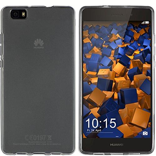 mumbi Hülle kompatibel mit Huawei P8 Lite 2015 Handy Case Handyhülle, transparent schwarz