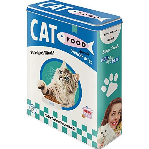 Nostalgic-Art Retro Vorratsdose XL Cat Food – Geschenk-Idee für Katzen-Besitzer, Aufbewahrungsbox für Trockenfutter, 4 l