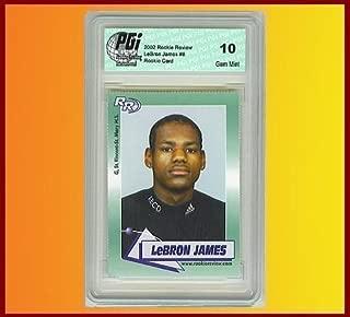 2002 Rookie Review Rookie Card Adidas High School Card #6 LeBron James GM (Gem Mint)