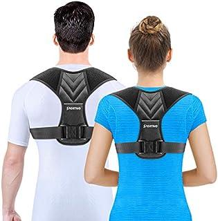 Sportivo Posture Corrector for Men, Posture Corrector for Women Adjustable Upper Back Brace, Shoulder Clavicle Support Com...