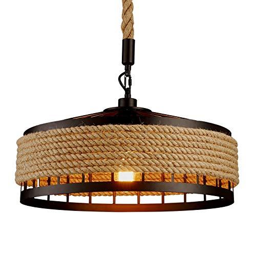 Veilleuse Corde de fer L'industrie américaine loft lustre créatif phare restaurant café café lumière salle à manger pendentif lampe goutte-à-goutte
