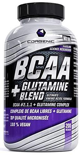 Corgenic BCAA + Glutamine Blend - 200 Capsules