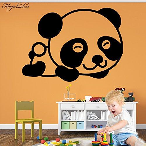 BailongXiao DIY niedlichen Smiley Cartoon Panda wandaufkleber kinderzimmer Schlafzimmer Wohnzimmer Dekoration einrichtungsgegenstände zubehör Aufkleber 54x39 cm