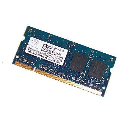 512MB RAM PC portátil SODIMM Nanya nt512t64uh8a1fn-3C DDR2PC2–5300S 667mhz CL5