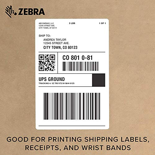 Zebra - GX420d Direct Thermal Desktop Printer for Labels, Receipts, Barcodes, Tags, and Wrist Bands - Print Width of 4 in - USB, Serial, and Parallel Port Connectivity (Renewed) Photo #6