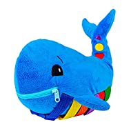 Buckle Toy - Blu Whale - Learning Activity Toy - Develop Motor Skills and Problem Solving - Counting and Color Recognition - Easy Travel Toy