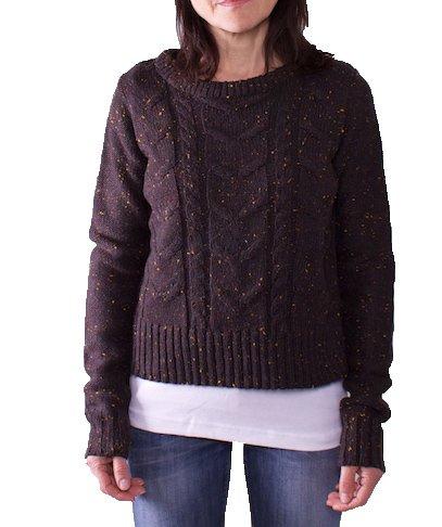 Authentic - dames - Fresh Made korte trui - bruin