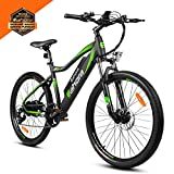 Eahora XC100 26 Inch Electric Mountain Bicycle 7 Speed E-Bike 48V 10.4Ah Lithium Battery 350W Electric Bike Max 80 Miles Adult Assisted E-Bike Electric Bike for Adults with E-PAS Power Recharge System