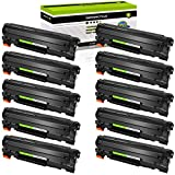 GREENCYCLE 10 Pack Black Cartridge Compatible for HP 85A CE285A CE285 Toner Cartridge for Laserjet Pro P1102W P1102 P1100 M1212NFW M1212NF M1210 M1132 M1130 Laser Printer