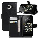 Manyip Funda LG K5, Caja del teléfono del Cuero,Protector de Pantalla de Slim Case Estilo Billetera con Ranuras para Tarjetas, Soporte Plegable, Cierre Magnético