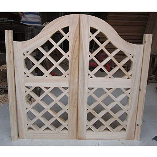 CAIJUN Swinging Doors Cafe Doors Solid Wood Entrance Decoration Partition Door Saloon Terrace Balcony Bar Door No Paint, 41 Sizes (Color : A, Size : 150x90cm)