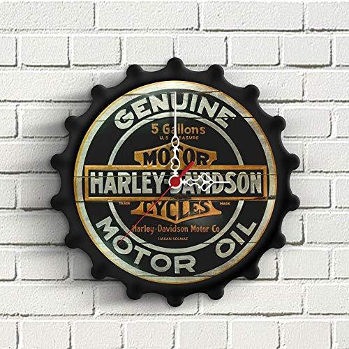 Wanduhr Personalisierte Harley Davidson Design Holzwanduhr