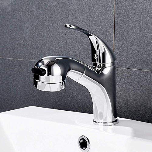 YAMEIJIA Küchenhahn Pull Out, Pull-Out Faucet Multifunktionale All-Copper heiß und Cold Telescopic Shampoo Waschmaschine Gesicht