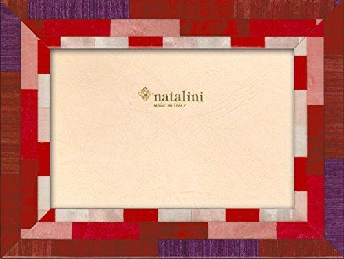 Natalini MIRA AMARVR 10X15 Bilderrahmen mit Unterstützung für Tisch, Tulipwood, Rot, 10 X 15 X 1,5