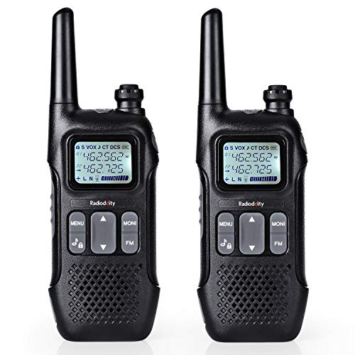 Radioddity FS-T1 FRS Two-Way Radio Long Range License-Free Walkie Talkies NOAA, 22 Channels 154 Privacy Codes with Earpiece, USB Charging, 2 Pack. Buy it now for 29.99