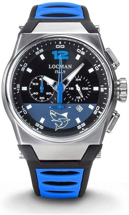 Orologio locman nuovo mare bksk nero e bluette 0555A01S-00BKSKSS