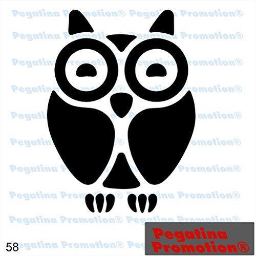 Piktogramm Typ 58 Icon Symbol Zeichen Eule Uhu Kauz Weisheit Wald Forst Vögel Aufkleber Sticker ca.15cm von Pegatina Promotion® Aufkleber mit Verklebehilfe von Pegatina Promotion® ohne Hintergrund geplottet