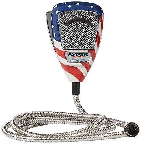 Astatic 302-10309 Stars N' Stripes Noise Canceling 4-Pin CB Microphone