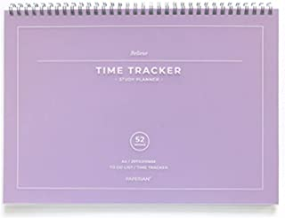 PAPERIAN Believe TIME Tracker - مخطط دراسة غير محدث مقاس A4 من Wirebound / قائمة مها/جدول المهام