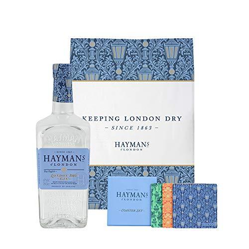 Haymans London Dry Gin 47% Vol. 0,7 Liter incl. Geschirrtuch und Untersetzer
