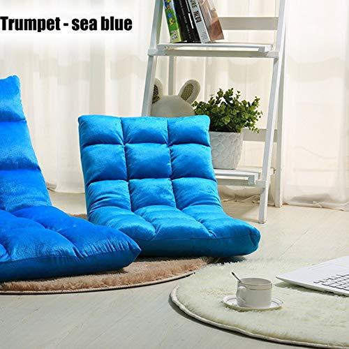 DLLzq Bodensofa,Einstellbares 6-Positionen-Memory Foam Floor Chair Und Gaming Chair,Seablue-S