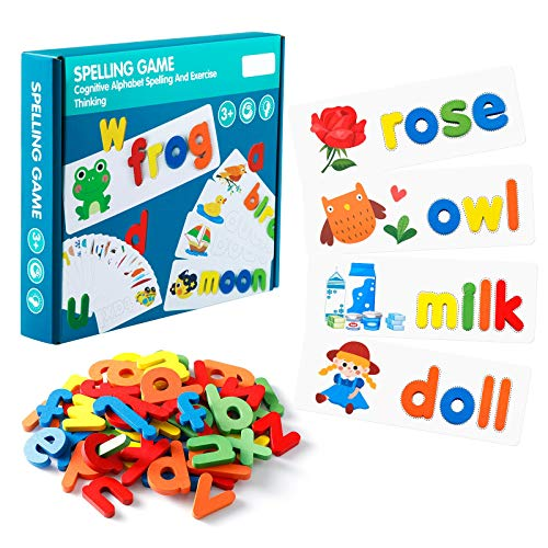 EXTSUD Spelling Game for Kids - Gift Toy for 3 4 5 6 7 8 Years Old Boys...
