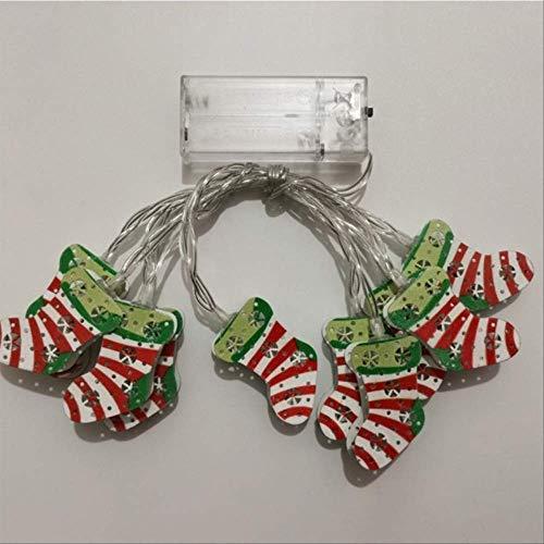 No brand Kerstmis verlicht de lichte snoer smeedijzer, de kerstman-lantaarn verlicht decoratie, zoals op de foto kleur getoond