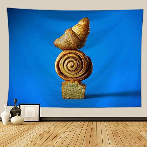 Aeici Wandbehang Indianisch Brot Muster Wandbehang Wandtücher 150x100 cm Polyester Wandbehang Wandteppich Blau