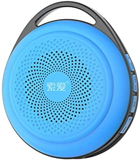 YANTING S-33 Wireless Bluetooth Speaker, Multimedia Audio Speaker, Computer Speaker - Black (Color : Blue)